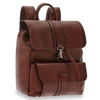 "THE BRIDGE Cosimo Line - Brown Leather Backpack Pc 12,5"" Made in Italy"