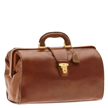 THE BRIDGE Today Business Line - Brown Leather Doctor Bag Made in Italy