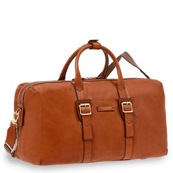 THE BRIDGE Cognac Leather Carry-On Travel Bag Giannutri Line