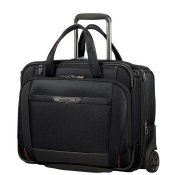 "SAMSONITE Black Rolling Tote Laptop Bag 15.6"" 2 Wheels- Pro DLX 5 Line"