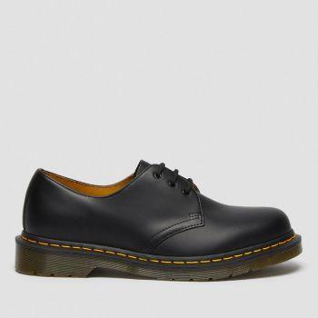 DR. MARTENS 1461 Line – Unisex Black Smooth Leather Shoes