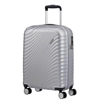 American Tourister Soundbox – Silver Hardside Cabin Case 55 cm 4 wheels 2,6 kg
