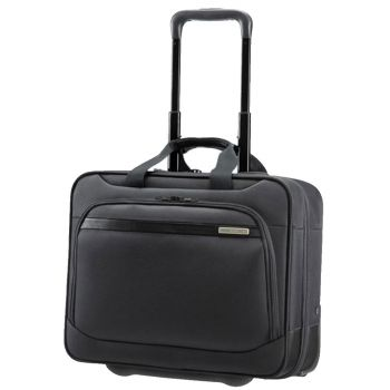 "SAMSONITE Black Rolling Tote Laptop Bag 15.6"" 2 Wheels- Vectura Evo Line"