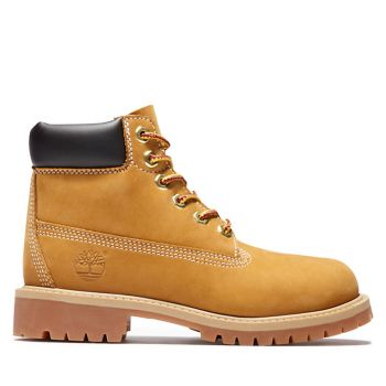 TIMBERLAND Premium 6 Inch Line – Yellow Leather Boots for Kids