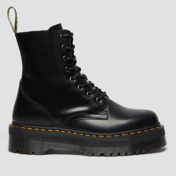 DR. MARTENS Jabon Line – Black Leather Boots