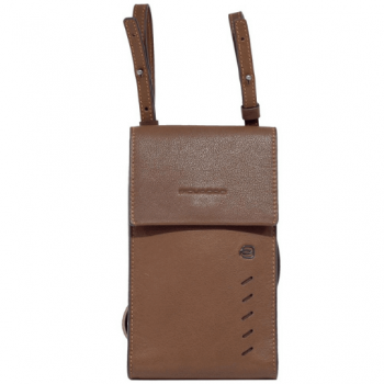PIQUADRO Nabucco Line – Brown Leather Mobile Phone Case AC5442S110