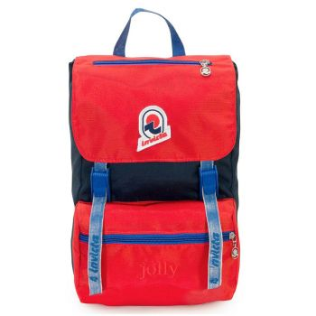 INVICTA Jolly Vintage Small Line - Blue and Red Fabric Unisex Backpack