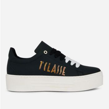 1A Classe Alviero Martini Summer Vibes Line – Black Sneakers with Geo Classic Maxi Logo P427