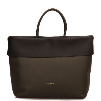 COCCINELLE 25 Line – Reef Noir Leather Handle Bag Made In Italy