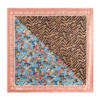 LIU JO Desert Sand Satin Fabric Foulard