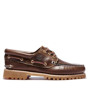 TIMBERLAND Authentic 3-Eye Line – Brown Leather Mocassins for Men