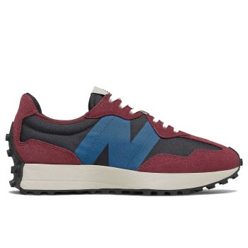 NEW BALANCE 327 Line – Burgundy Blue Suede and Mesh Sneakers for Women