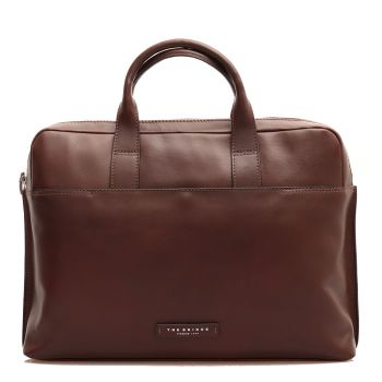 """THE BRIDGE Story Line - Brown Leather Two Handle Briefcase Pc 15"""""""