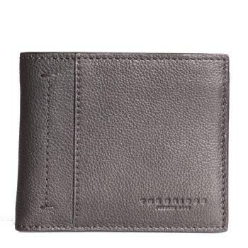 THE BRIDGE Serristori Line – Black Tumbled Leather Wallet for Men