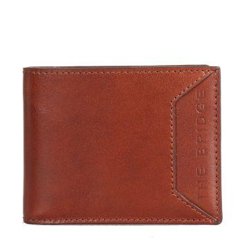 THE BRIDGE Bufalini Line – Brown Leather Credit Card Wallet