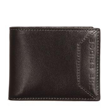 THE BRIDGE Bufalini Line – Black Leather Credit Card Wallet