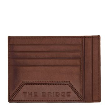 THE BRIDGE Bufalini Line - Brown Leather Man Card Holder