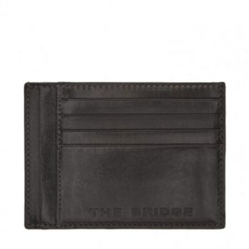 THE BRIDGE Bufalini Line - Black Leather Man Card Holder