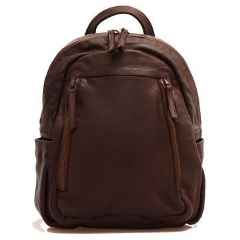 GIANNI CONTI Brown Leather Woman Backpack