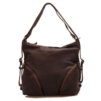 GIANNI CONTI Brown Leather Shoulder Bag