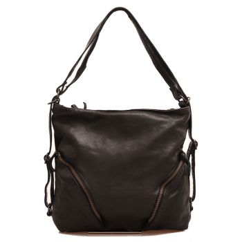 GIANNI CONTI Black Leather Shoulder Bag