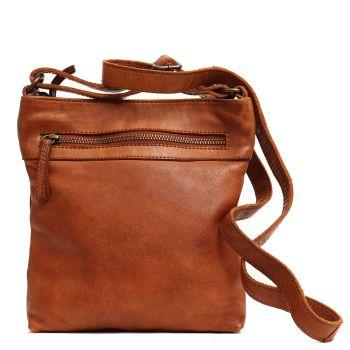 GIANNI CONTI Vintage Line - Cognac Leather Man Purse