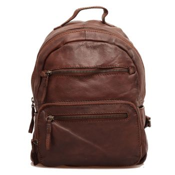 GIANNI CONTI Brown Chocolate - Leather Woman Backpack
