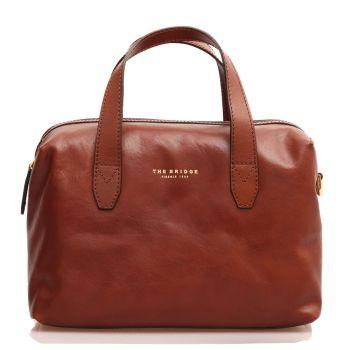 THE BRIDGE Story Line - Brown Leather Bucket Bag