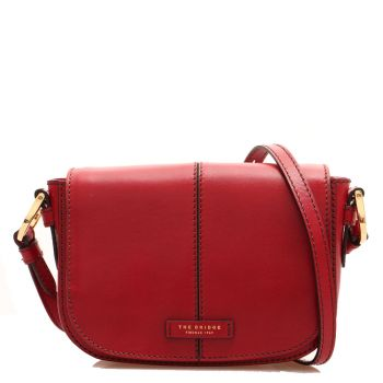 THE BRIDGE Faentina Line - Red Leather Crossbody Bag Made in Italy
