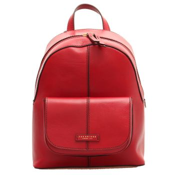 THE BRIDGE Faentina Line - Red Leather Backpack Made in Italy