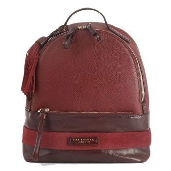 THE BRIDGE Ognissanti Line – Bordeaux Leather Backpack