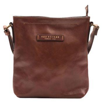 THE BRIDGE Brown Leather Crossbody Man Bag Luxe Line