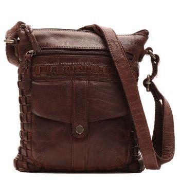 GIANNI CONTI - Brown Leather Unisex Crossbody Bag