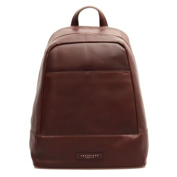 THE BRIDGE Story Line - Brown Leather Backpack Pc 15""