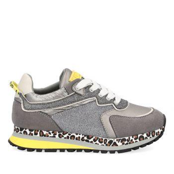 LIU JO Wonder 140 Line – Junior Grey Mesh Suede Sneakers