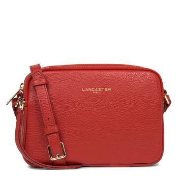LANCASTER Dune Line - Red Leather Crossbody Bag