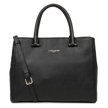 LANCASTER Dune Line - Black Leather Handle Bag