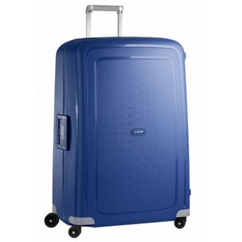 SAMSONITE Dark Blue Hard Shell Trolley XL Size 4 Wheels 81 cm S'Cure Line