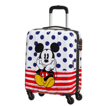 American Tourister American Tourister Disney Mickey Blue Dots – Hardside cabin case 55 cm 4 wheels 2,6 kg
