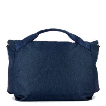 BORBONESE Jet Op Line – Large Blue Fabric Handle Bag