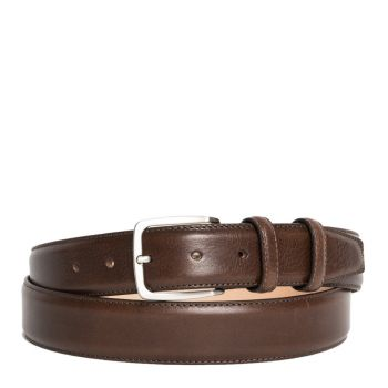 Men's Leather Belt Brown 3.5cm - Made in Italy