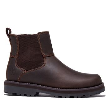 TIMBERLAND Courma Kid Line – Junior Dark Brown Leather Chelsea Boots