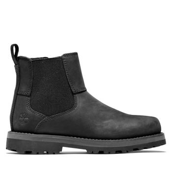 TIMBERLAND Courma Kid Line – Junior Black Leather Chelsea Boots