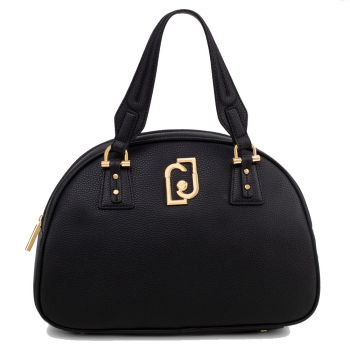 LIU JO Black Bowling Bag with Logo