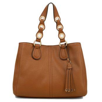 LIU JO Deer Color Boston Bag with Tassel