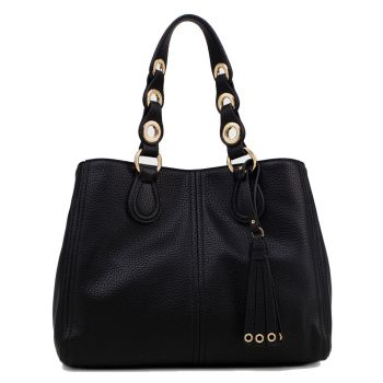LIU JO Black Boston Bag with Tassel
