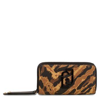 LIU JO Zebra Double Zip Wallet