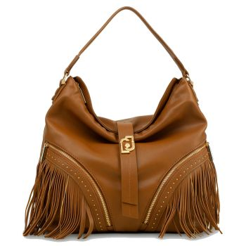LIU JO Deer Color Hobo Bag with Fringes
