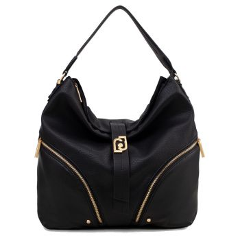 LIU JO Black Hobo Bag with Logo