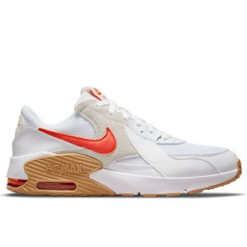 NIKE Air Max Excee Line – White Orange Leather Sneakers